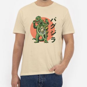 Pugzilla-Cream-T-Shirt-For-Women-And-Men-S-3XL