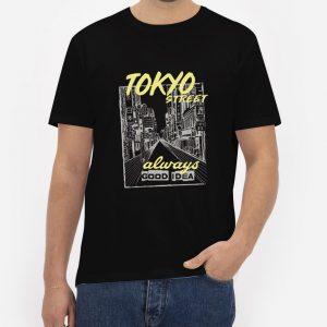 Tokyo-City-Street-T-Shirt-For-Women-And-Men-S-3XL