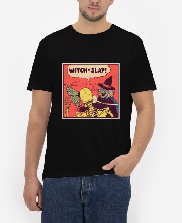 Witch-Slap-Black-T-Shirt-For-Women-And-Men-S-3XL