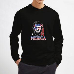 Abraham-Lincoln-Merica-Black-Sweatshirt