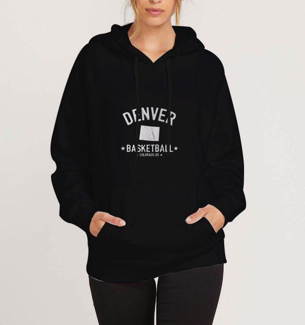 Denver-Rustic-Basketball-Black-Hoodie