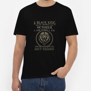 Black-King-Was-Born-in-October-T-Shirt