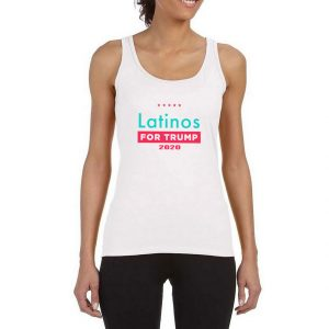 Latinos-For-Trump-White-Tank-Top