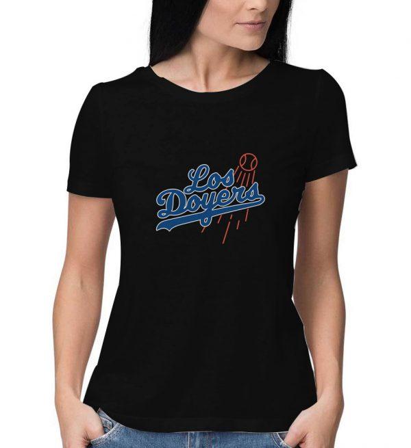 Los-Doyers-De-Los-Angeles-Black-T-Shirt
